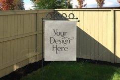 Yard Flag Mockups for Autumn, White & Burlap Flag Mock-Ups Product Image 5
