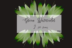 Foliage Clipart Green Watercolor Frame Product Image 1