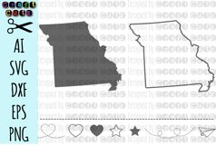 MISSOURI svg, State svg Files, Missouri Vector, United States svg, State Clip Art, Missouri Cut File, Missouri State Outline Product Image 1