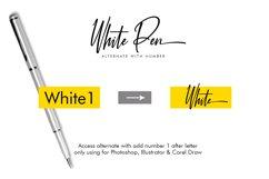 White Pen Script Product Image 5