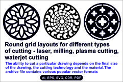 Round grid layouts for different types of cutting Product Image 1