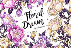 Floral clipart, Watercolor roses, spring flowers, roses Product Image 1