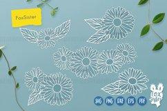 Flower svg, Flower Vector Cut File, Floral svg, Daisy svg Product Image 3
