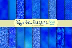 Royal Blue Foil and Glitter Textures Digital Paper Product Image 1