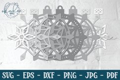 3D Snowflake Ornament SVG, 3D Christmas Ornament, DXF Product Image 2