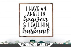 I Have An Angel In Heaven And I Call Him Husband SVG Product Image 1