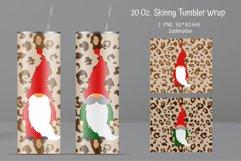 Sublimation Tumbler Leopard print. Gnome Tumbler Design Product Image 1
