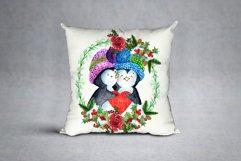 Cute Watercolor Penguins clipart Product Image 4