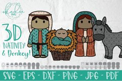 3D Nativity SVG, Layered Christmas Cut File, Baby Jesus, DXF Product Image 3