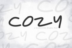 Cozy - A Handwritten Display Font Product Image 1