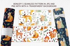 Winter Forest Watercolor Graphic Set Product Image 6