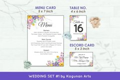 Wedding Invitation Set #1 Watercolor Floral Flower Style Product Image 6