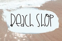 Beach Shop - A Quirky Handwritten Font Product Image 1