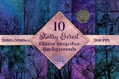 Starry Forest Glitter Snapshot Backgrounds - 10 Image Set Product Image 1