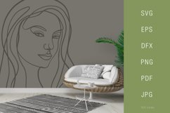 One line portrait illustration SVG PNG Face 9 Product Image 3
