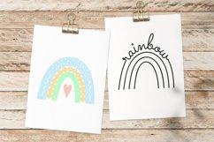 Rainbow SVG, Pastel Baby Rainbow, Line Art, Cut File Product Image 3
