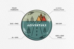 Adventure Graphic. Three round logos in doodle style Product Image 5