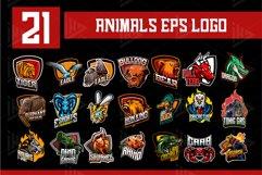 21 Set Animals Logo esports Gaming Include Free Font Product Image 2