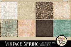 Digital Scrapbook Kit - Vintage Floral Scrapbooking Clipart Product Image 3