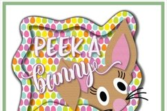 Peek A Boo Easter Bunny Sublimation Product Image 2