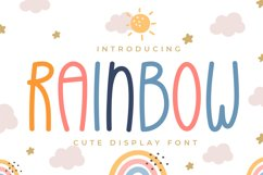Rainbow - Cute Display Font Product Image 1