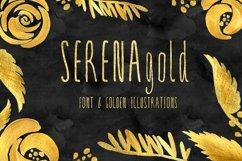 SERENA gold. Font Product Image 2