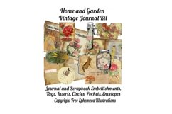 House and Garden Vintage Journal Scrapbook Kit PDF Product Image 1