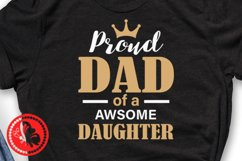 Proud Dad of a awsome daughter svg Father's day shirt Png Ai Product Image 3