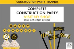 Construction party printable HAPPY BIRTHDAY banner Product Image 4