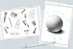Graphite pencils and textured Procreate brushes Product Image 5
