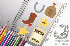 Wild West Bundle SVG, Silhouette Studio, Cricut, Eps, JPEG Product Image 1