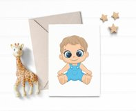 Cute baby girl and baby boy, EPS, PNG, JPG, 300 DPI Product Image 2