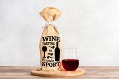 Wine Bag SVG Bundle, Christmas Wine SVG files for Cricut Product Image 15