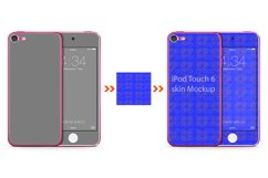 iPod Touch 6 Skin Design Template Back/front View Product Image 1