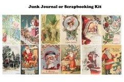 Vintage Christmas Junk Journal or Scrapbook Add Ons Kit PDF Product Image 3