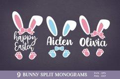 Easter Bunny Ears Split Monogram svg png eps Product Image 1