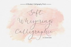 Soft Whisperings Calligraphic Product Image 1