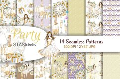 Party Watercolor Seamless Patterns Product Image 1