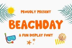 Beachday - Fun Display Font Product Image 1