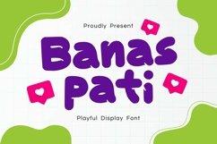 Web Font Banaspati Display Font Product Image 1
