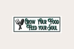 Grow Your Food Feed Your Soul - Machine Embroidery Design Product Image 1