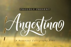 Angestina | A Calligraphy Font Product Image 1