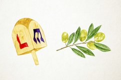 Watercolor Hanukkah Clipart, Chanukkah Clipart Product Image 4