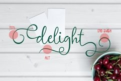 delight cute script Product Image 3