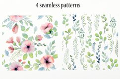 Watercolor floral design elements Product Image 6