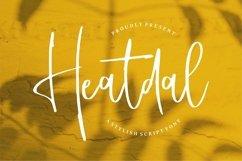 Web Font Heatdal - A Stylish Script Font Product Image 1