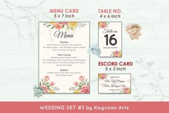 Wedding Invitation Set #3 Watercolor Floral Flower Style Product Image 6