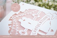 Congratulations Wedding Card SVG for Cricut and Silhouette Product Image 4