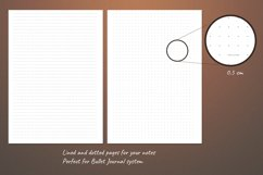 Printable writing paper lined dotted blank insert. A5 size Product Image 5