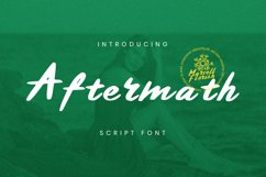 Aftermath Font Product Image 1